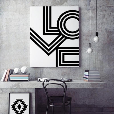 Beveld - Minimalist Love Geometric Canvas