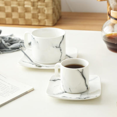 Beveld - Marble Decal White Coffee Cup