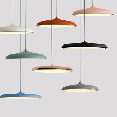 Scandinavian Flattened Hanging Light different colours