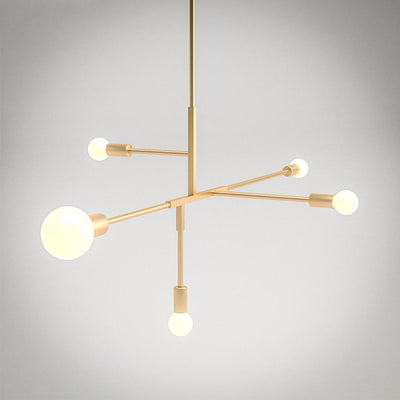 Beveld - Scandinavian Modern Gold Metal Pendant Light