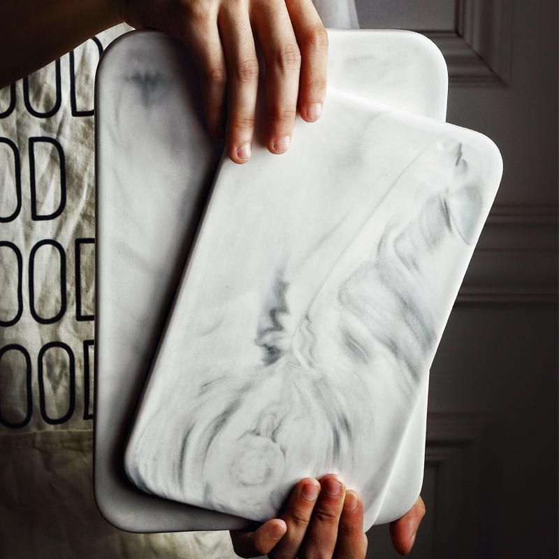 Nordic Style Marble Rectangle  Dinner Board