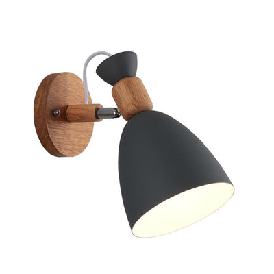 Nordic Creative Wall Bedside Lamp black