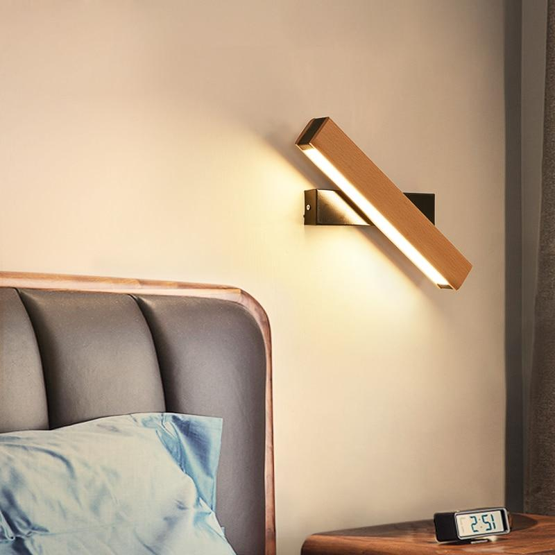 Wooden LED Adjustable Wall Lamp