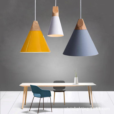 Scandinavian Wooden Pendant Lights different colours