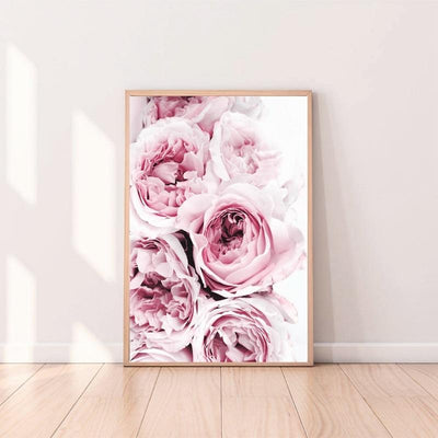 Beveld - Pink Flower Photography Canvas