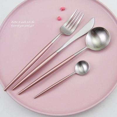 Beveld - Pink Silver Cutlery Set