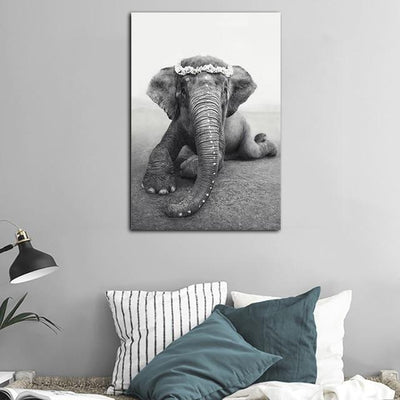 Beveld - Minimalist Elephant Wall Canvas