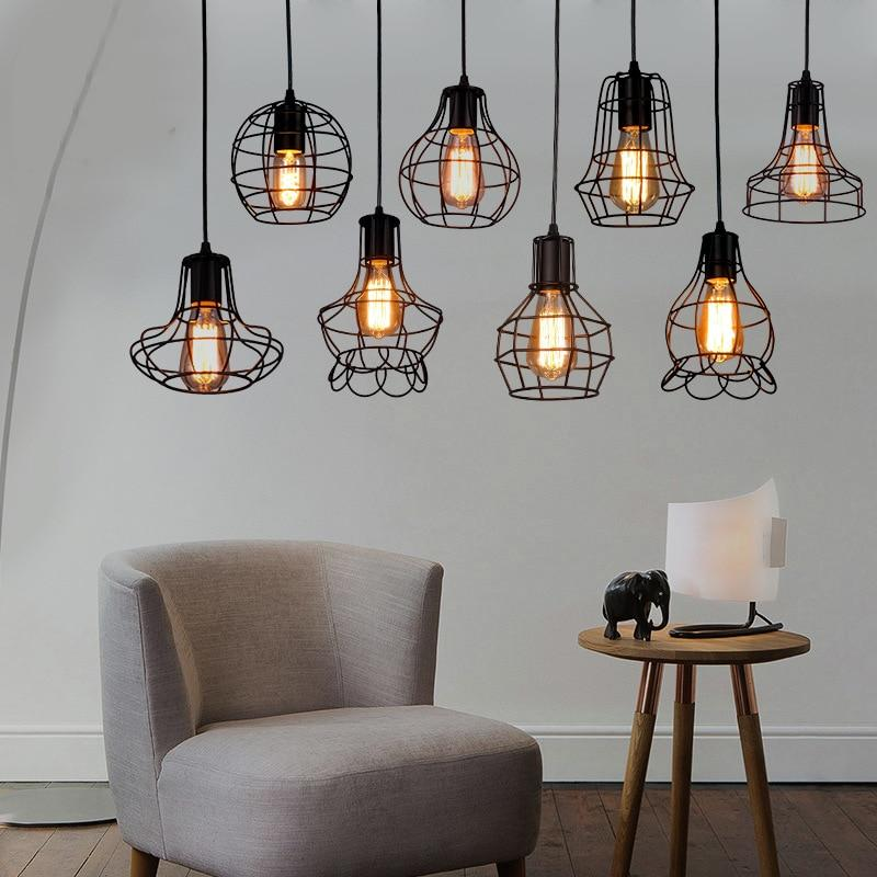 Retro Iron Pendant Cage Lamp