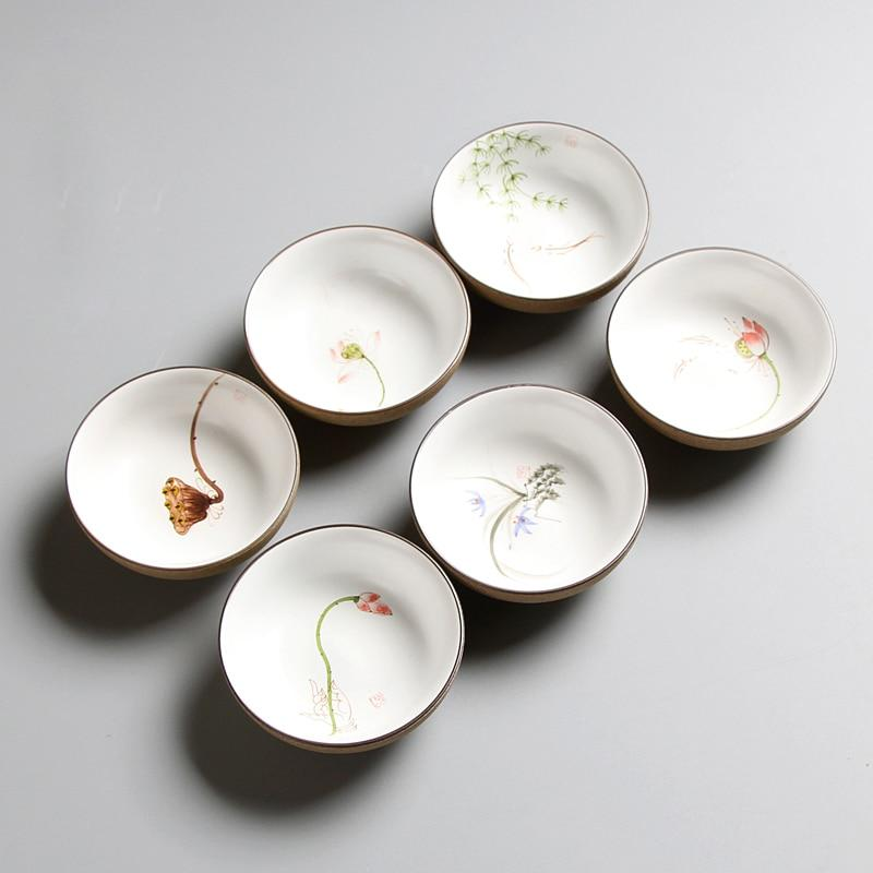 Ceramic chinese teacups set