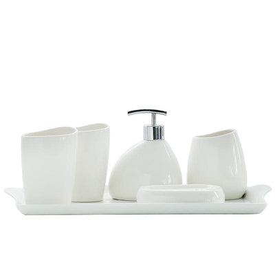 Beveld - White Ceramic Bathroom Set