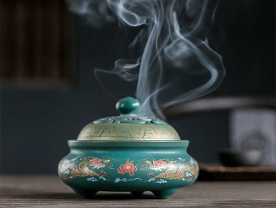 Beveld - Burners Porcelain Censer Buddhism Stick Incense Holder