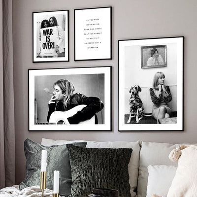 Beveld - Poster Black and White Vintage Canvas