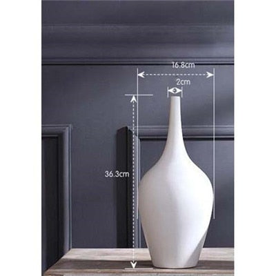 Beveld - Ceramic Flower Receptacle Tabletop Vase