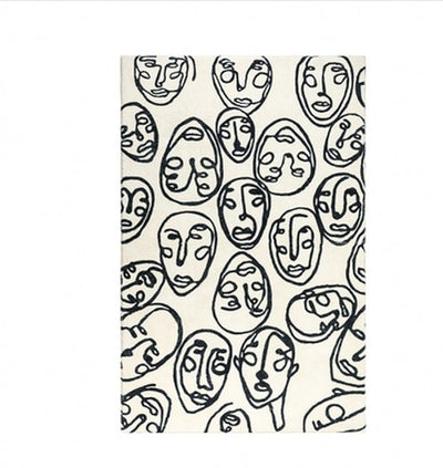 Beveld - Crowd of People Post pattern art area rug