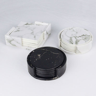 Beveld - Creative Marble PU Leather Coaster Cup Mat
