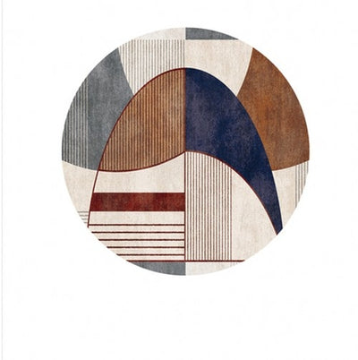Beveld - round shaped living room printed art rug