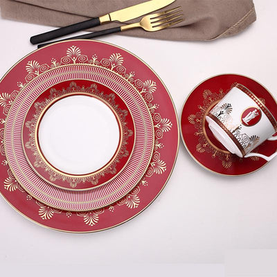 Beveld - Red Happiness Dinner Plates Sets