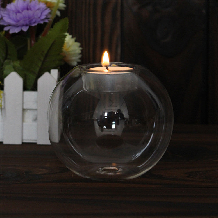 Beveld - Crystal Glass Candlestick with Candle
