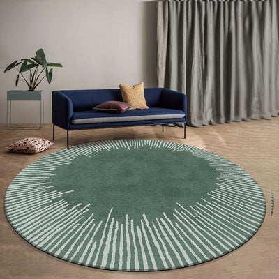 Beveld - Round shaped geometric living room rug
