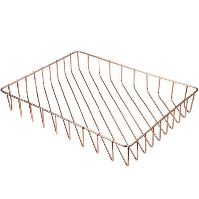 Scandinavian Rose Gold Metal Storage Basket rose pics 1