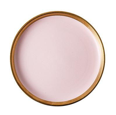 Beveld - Matte Pink with Gold Rim Dinnerware Set