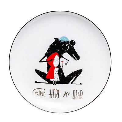 Beveld - Minimalist Little Red Riding Hood Plate