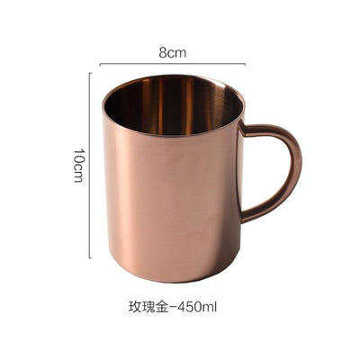 Modern Stainless Steel Mug 450ml rose measures