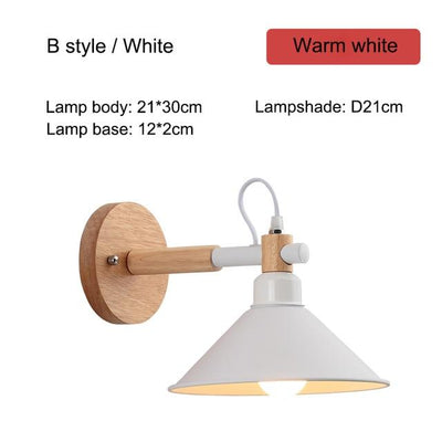 Nordic Creative Wall Bedside Lamp white type B