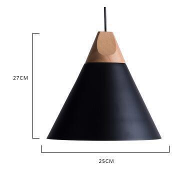 Scandinavian Wooden Pendant Lights black large