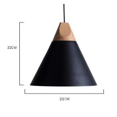 Scandinavian Wooden Pendant Lights black medium