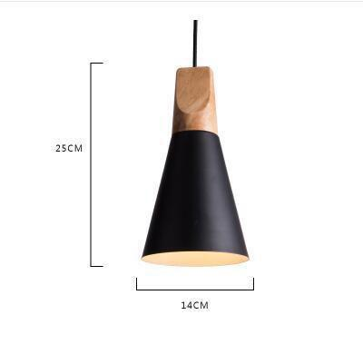 Scandinavian Wooden Pendant Lights black small
