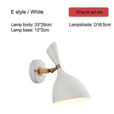 Nordic Creative Wall Bedside Lamp white type E