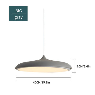 Scandinavian Flattened Hanging Light gray big