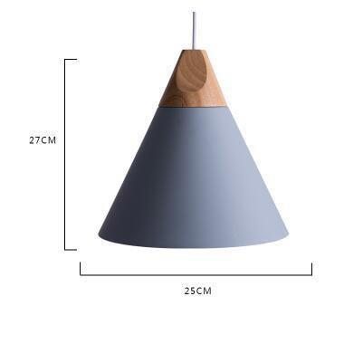 Scandinavian Wooden Pendant Lights gray large