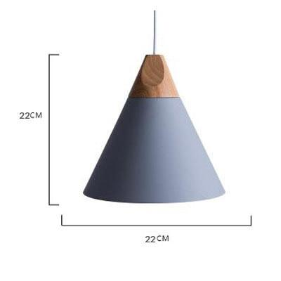 Scandinavian Wooden Pendant Lights gray medium