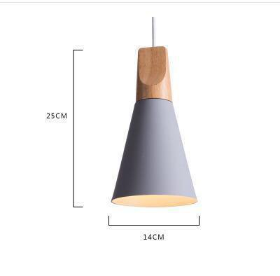 Scandinavian Wooden Pendant Lights gray small