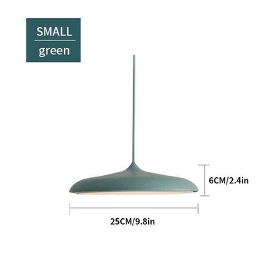 Scandinavian Flattened Hanging Light green small