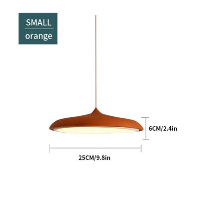 Scandinavian Flattened Hanging Light orange small