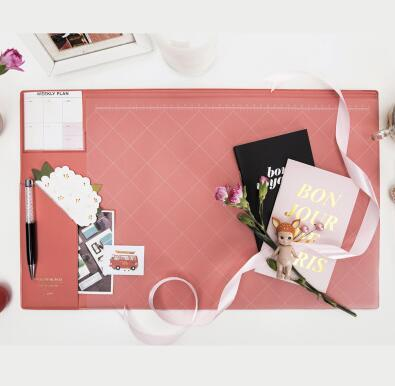 Multifunctional Modern Office Desk Mat pink