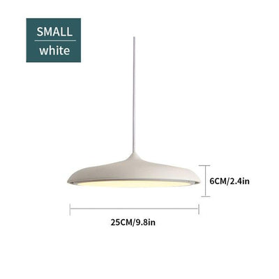 Scandinavian Flattened Hanging Light white small