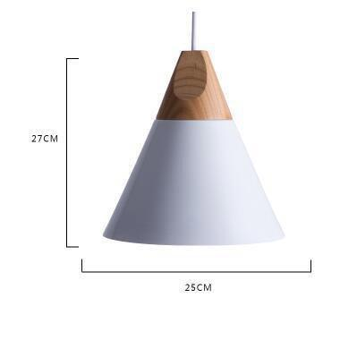 Scandinavian Wooden Pendant Lights white large