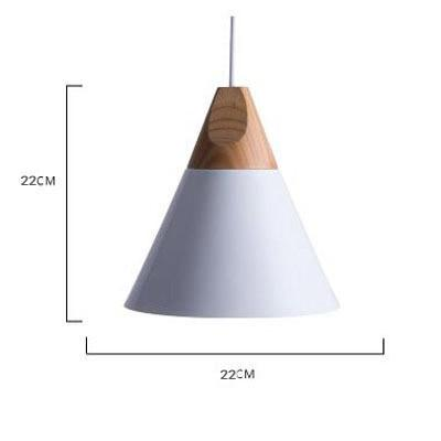 Scandinavian Wooden Pendant Lights white medium