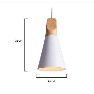 Scandinavian Wooden Pendant Lights white small