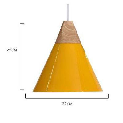 Scandinavian Wooden Pendant Lights yellow medium
