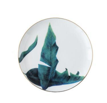 Beveld - Rainforest Gold Rim Ceramic Plates