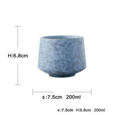 Stylish Blue Ceramic Dinnerware cup measures