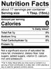 Nutrition Label Facts Apple and Pear Cider Hot Vinegar American Vinegar Works
