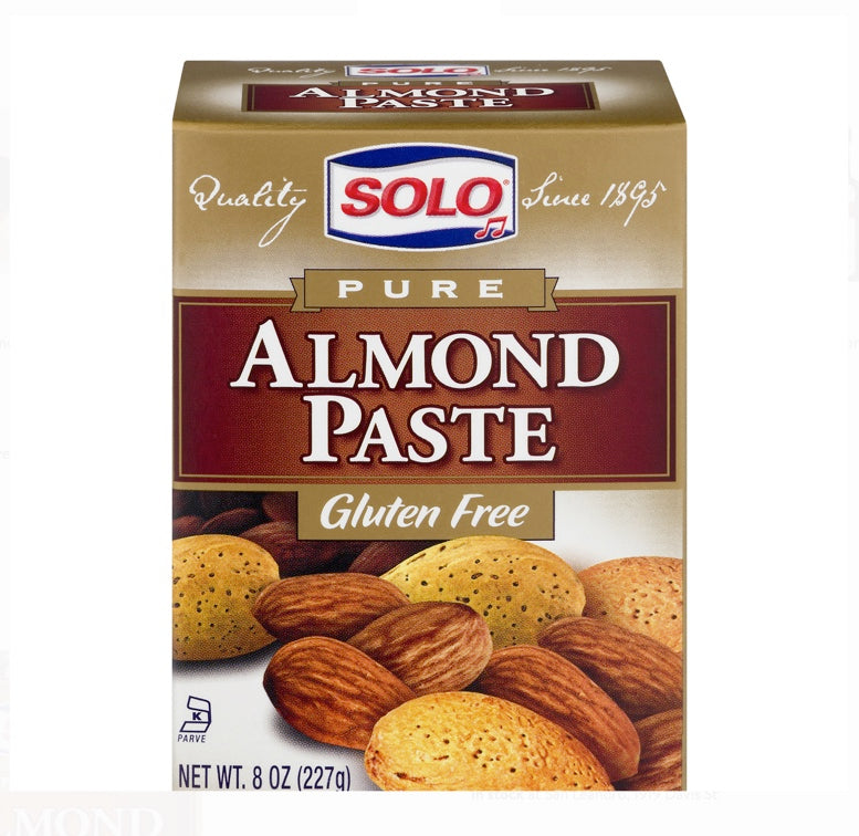 Solo Almond Paste (Gluten Free) 8 Oz