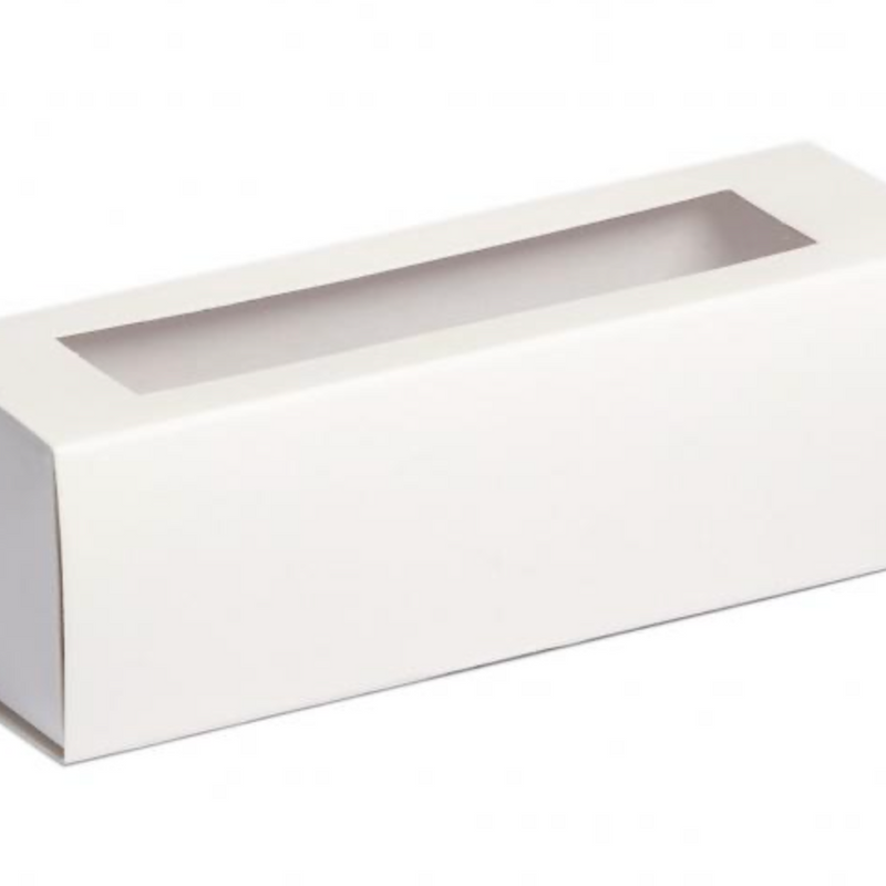 Macaron Box for 6 macaron  - White with Window