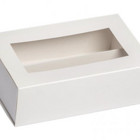 Macaron Box for 12 macaron  - White with Window